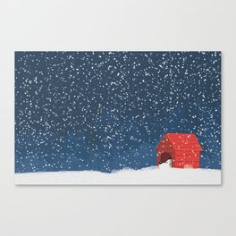Snoopy in the Snow Canvas Print