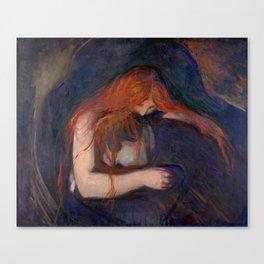 Edvard Munch - Love and Pain (The Vampire) Canvas Print