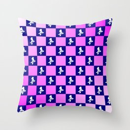 Mermaid pink and blue Throw Pillow