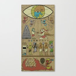 A Most Sacred Tablet Canvas Print