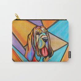 Watercolor Bloodhound Portrait Carry-All Pouch