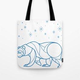 Bear & Night Sky Tote Bag