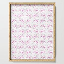 Pink kiwi pattern Serving Tray