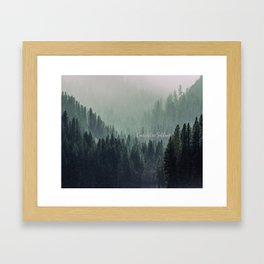 Content in Solitude #forest #trees #landscape Framed Art Print