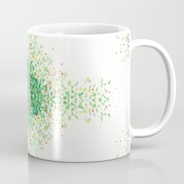 Floral Light Green Mosaic Pattern Coffee Mug