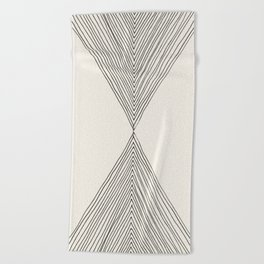 Minimalist Boho Triangles Beach Towel