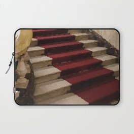 Stairs with red carpet Laptop Sleeve