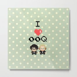I love 00Q: Dots Metal Print