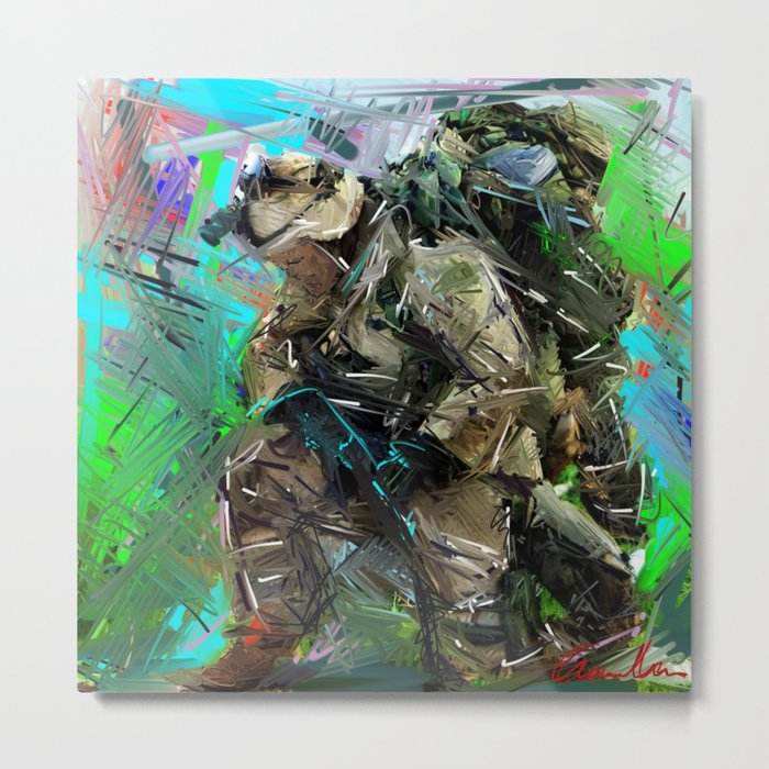 Army Soldier  Metal Print