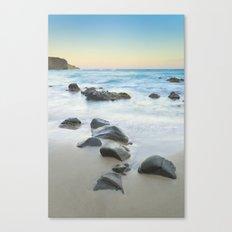 Magic beach. Volcanic sea. Canvas Print