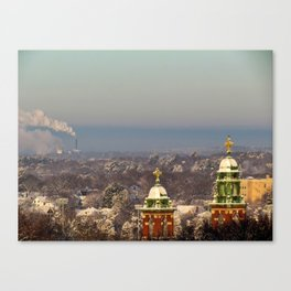 Winter Sunrise in Portland, Maine (1) Canvas Print