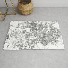 Kuala Lumpur White Map Rug