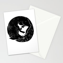 black and white thoughts Stationery Cards