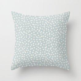 SILVER STARS CONFETTI Throw Pillow