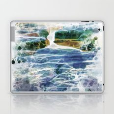 Abstract rock pool in the rough rocks Laptop & iPad Skin