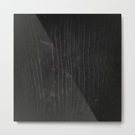 Black Wood Texture Metal Print