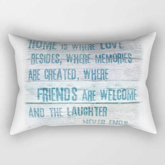 Home of Love and Laughter Rectangular Pillow