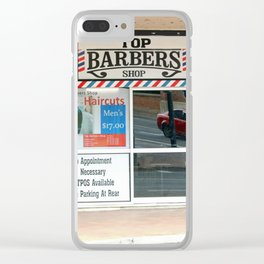 Barber Shop Clear iPhone Case