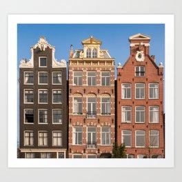 Canal Houses, Amsterdam Art Print