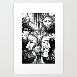 Cosmic Fishbowl Art Print
