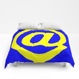 Arroba blue yellow Comforters