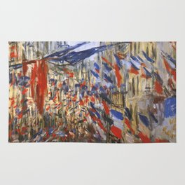 "Claude Monet ""The Rue Saint Denis, 30th of June 1878"" Rug"