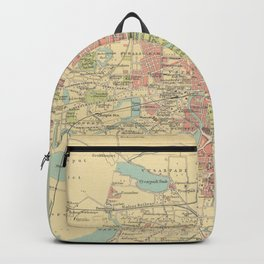 Vintage Map of Madras India (1909) Backpack