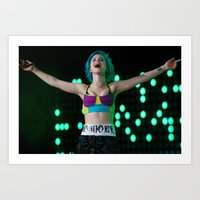 hayley williams Art Prints featuring Hayley Williams by Jesse Conway