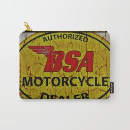 Vintage Painted  Motorcycle Sign Carry-All Pouch