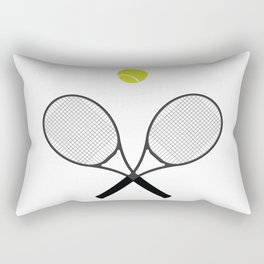 Tennis Racket And Ball 2 Rectangular Pillow