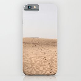 Footsteps in the dunes of Corralejo  | Calm natural travel fine art print | Canary Islands iPhone Case