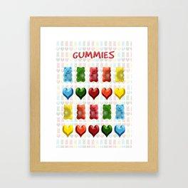 Gummy Bears, Jelly Hearts Framed Art Print
