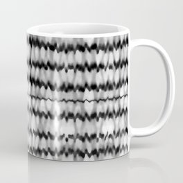 Abstract Wavy Black and White Pattern Coffee Mug