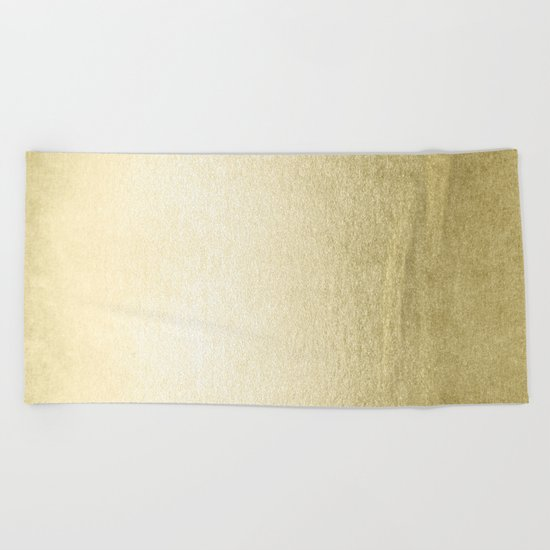 Simply Gilded Palace Gold Beach Towel