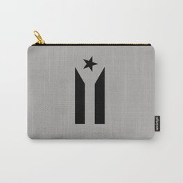 Protest Flag grey black Carry-All Pouch