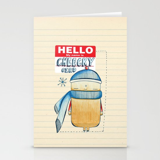 Cheeky Bird Stationery Cards