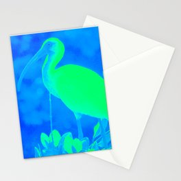 Blue White Ibis Stationery Cards
