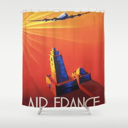 Vintage poster - French West Africa Shower Curtain
