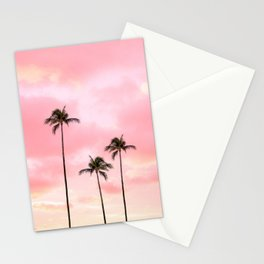 Palm Trees Photography   Hot Pink Sunset Stationery Cards
