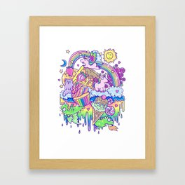 Kawaii Drip Framed Art Print