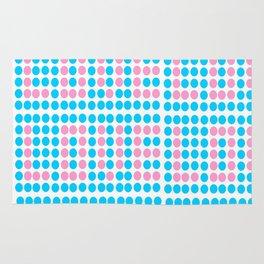 Love polka dot -polka dot, pattern,dot,polka,circle, disc,point,abstract,minimalism Rug