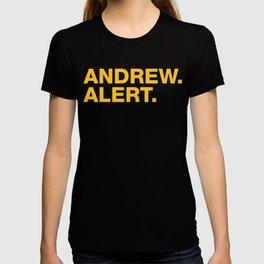 Andrew. Alert. T-shirt