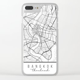 Bangkok Thailand Street Map Clear iPhone Case