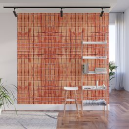 Red Chile Plaid Wall Mural