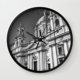 Piazza Navona, the ancient Stadium of Domitian, in Rome, Italy. Wall Clock