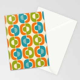 Retro Mid Century Modern Pattern 346 Stationery Cards