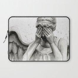 Weeping Angel Watercolor Painting Laptop Sleeve