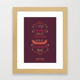 Jane Austen's Elizabeth Bennet Framed Art Print