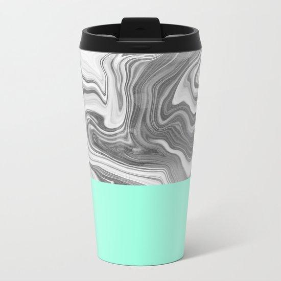 Liquid Sea Metal Travel Mug