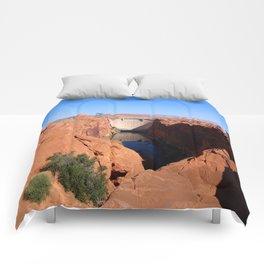 Glen Canyon Dam And Colorado River Comforters